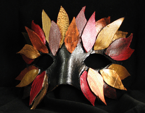 Feathered mask (Green Man (Autumn)) from Tormented Artifacts